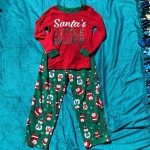 Carters Christmas fleece pajamas!